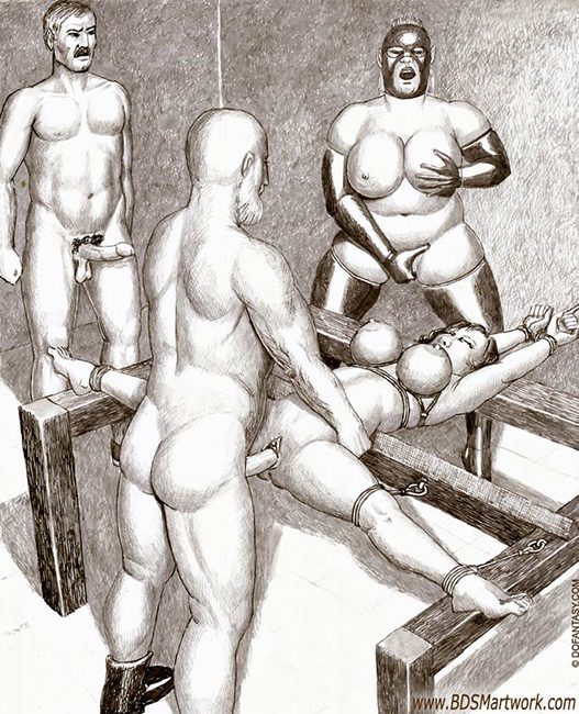 Curious anal bdsm art theme